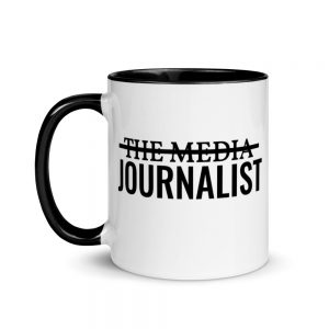 I'm Not The Media Mug with Color Inside Black