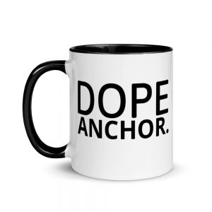 Dope Anchor Mug with Color Inside black