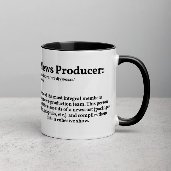 Define Producer Mug with Color Inside For Lefties black
