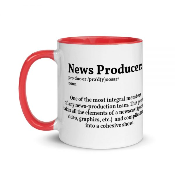 Define Producer Mug with Color Inside red