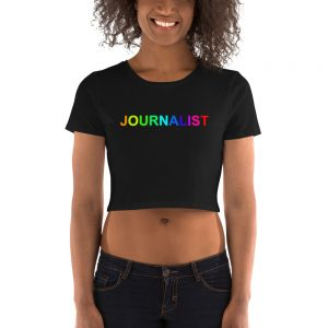 Journalist Pride Rainbow Crop Tee Black