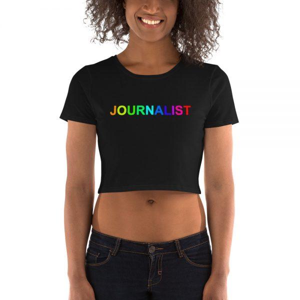 Journalist Pride Rainbow Crop Tee Black