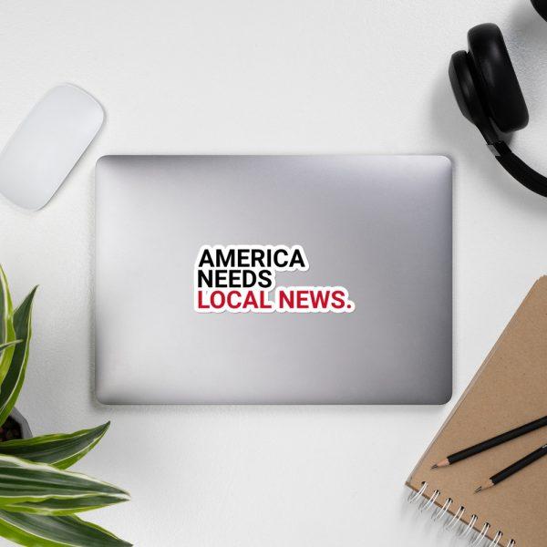 America Needs Local News Stickers