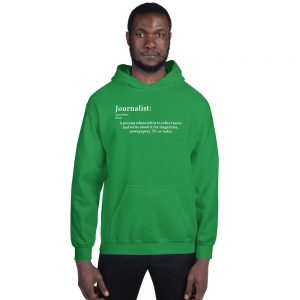 Define Journalist Hoodie green
