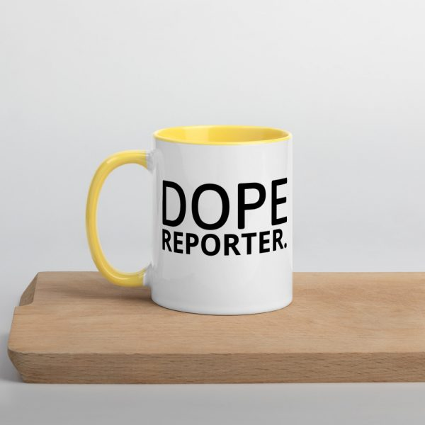 Dope Reporter Mug with Color Inside yellow
