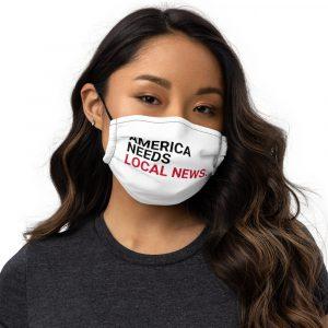 America Needs Local News Face Mask black