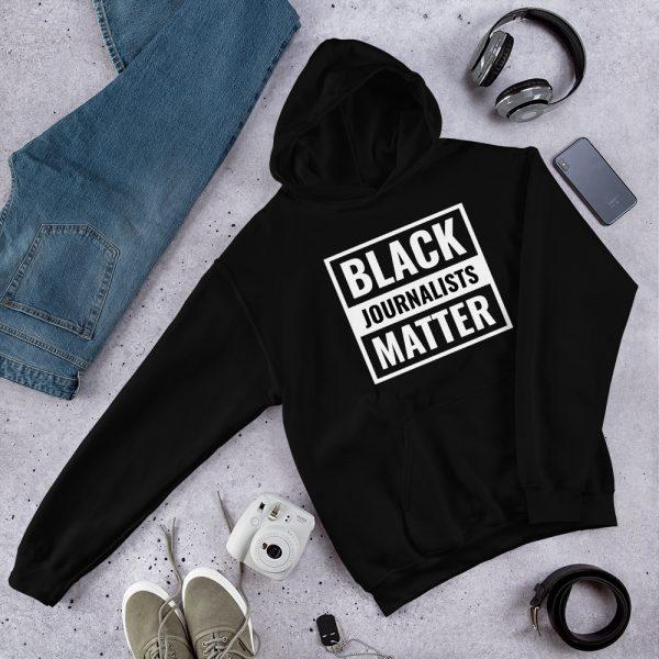 Black Journalists Matter Unisex Hoodie Black