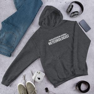 I'm Not A Weather Girl Hoodie dark grey