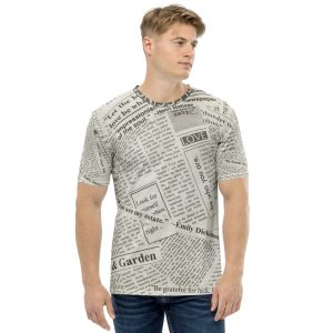 Newspaper Print Men's T-Shirt