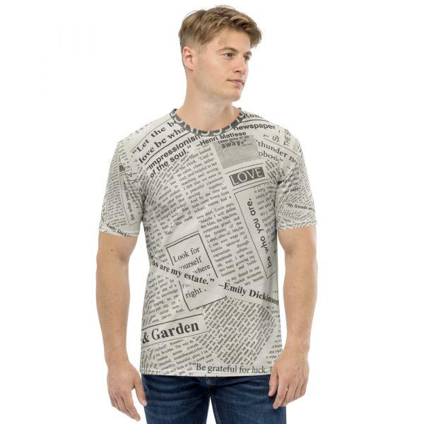 Newspaper Print Men's T-Shirt