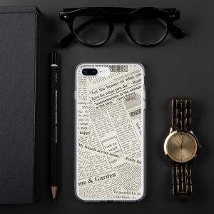 Newspaper Print iPhone Case