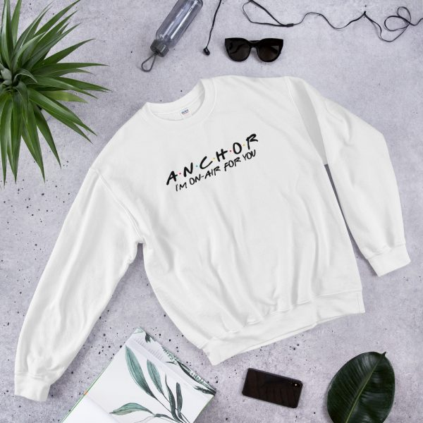 FRIENDS Themed Anchor Sweatshirt with Black Font white