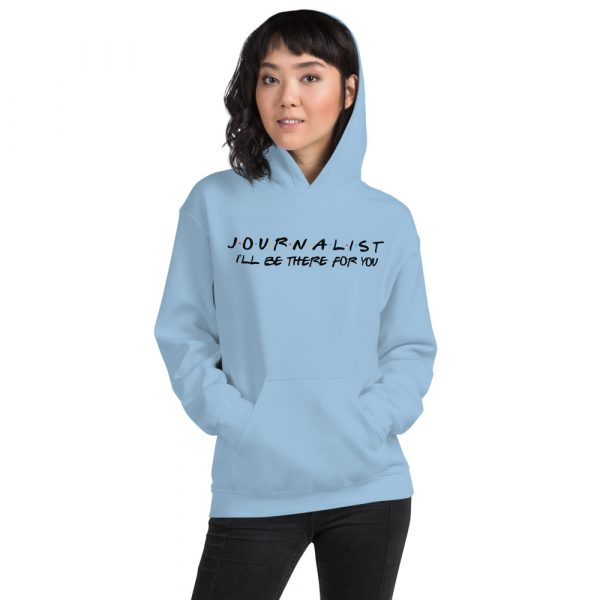 FRIENDS Themed Journalist Hoodie with Black Font blue
