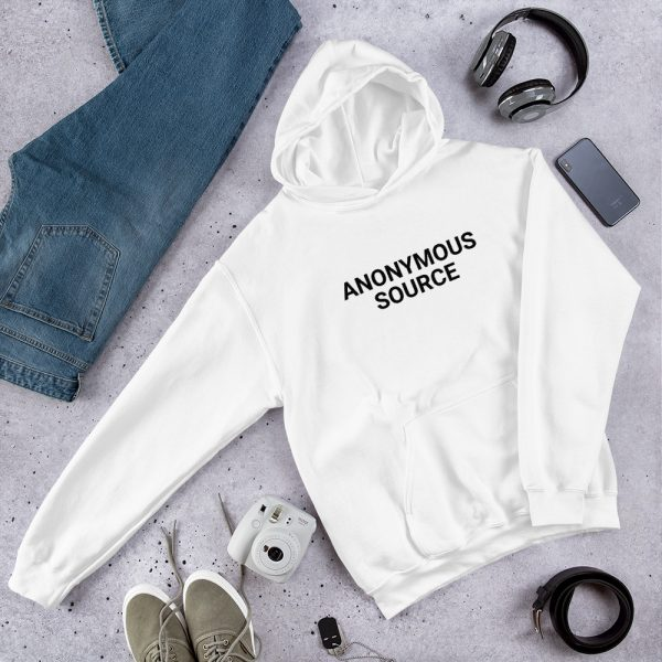 Anonymous Source Unisex Hoodie white