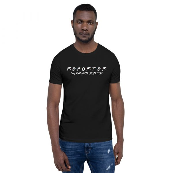 FRIENDS Themed Reporter T-Shirt with White Font black
