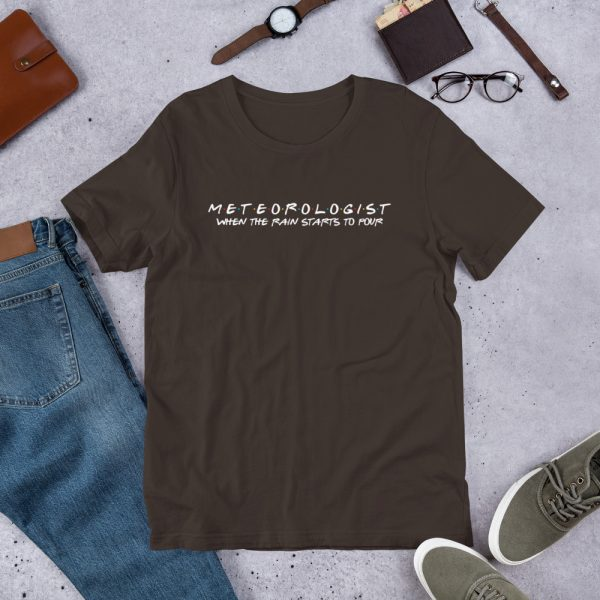 FRIENDS Themed Meteorologist T-Shirt with White Font brown