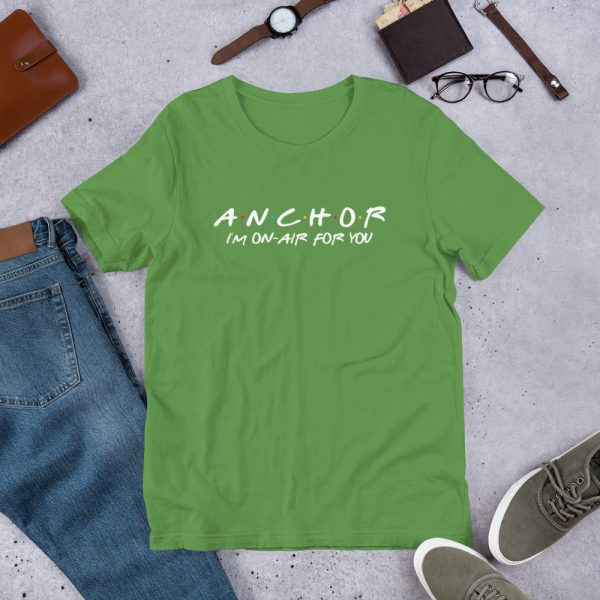 FRIENDS Themed Anchor T-Shirt with White Font green