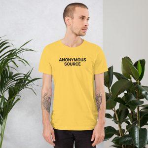 Anonymous Source Unisex T-Shirt yellow