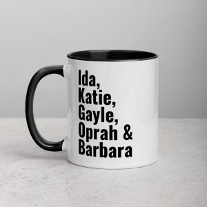 Influential Female Journalists Mug with Color Inside