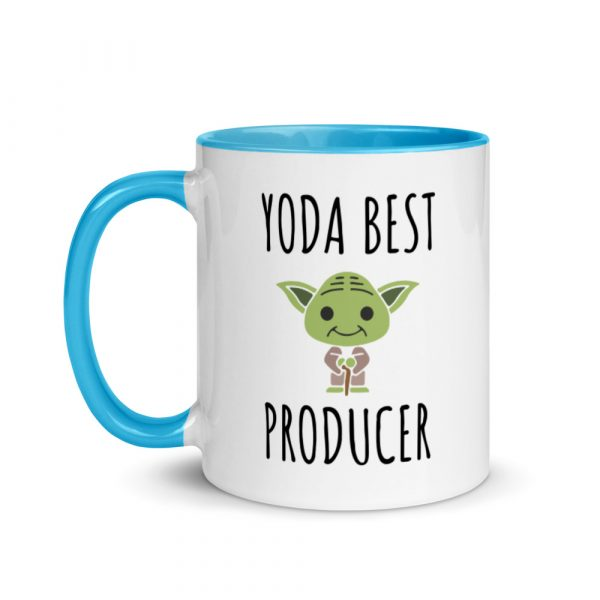 Yoda Best Producer Mug blue