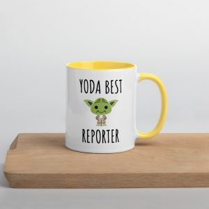 Yoda Best Reporter Mug with Color Inside yellow