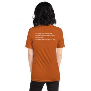 Dear Person Behind Me Journalist T-Shirt